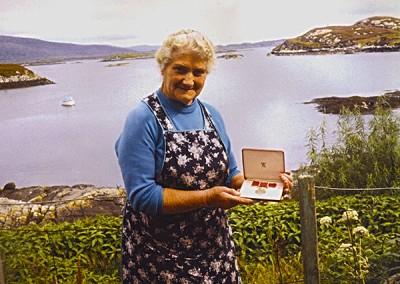 Marion with her BEM medal.