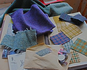 Tweed Samples and pattern book from 1970's